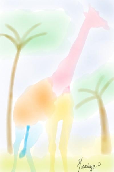 Rainbow Giraffe | Hamiga | Digital Drawing | PENUP