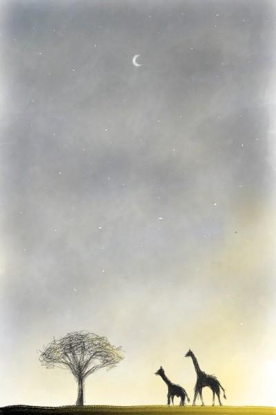 고요: 기린과 나무 | santo | Digital Drawing | PENUP