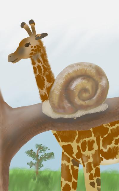 giraffe and smail   doo   Digital Drawing   PENUP