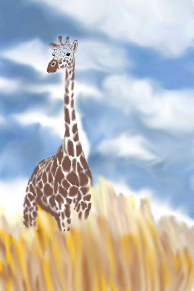 Giraffe walks | Natasha | Digital Drawing | PENUP