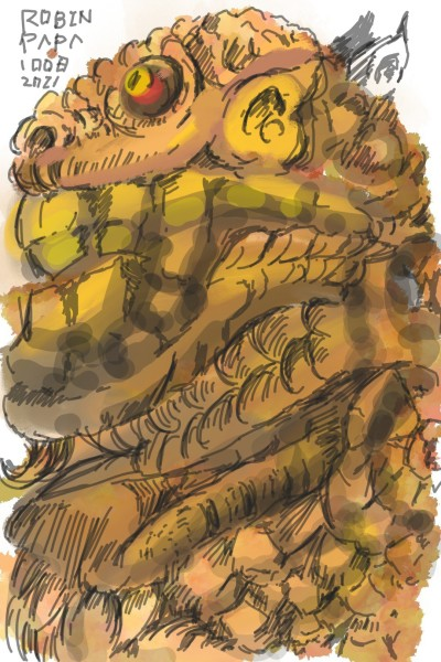 Lion Alien : Brown Tone   RobinPAPA   Digital Drawing   PENUP