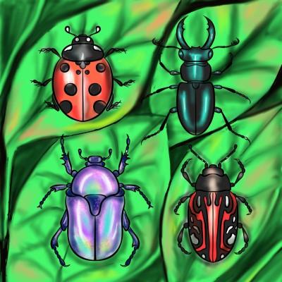 Beetles | jenart | Digital Drawing | PENUP