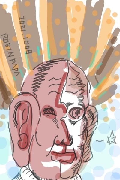 Smile : Brown Red Face | RobinPAPA | Digital Drawing | PENUP