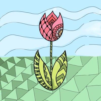pattern and a flower   Haneen   Digital Drawing   PENUP