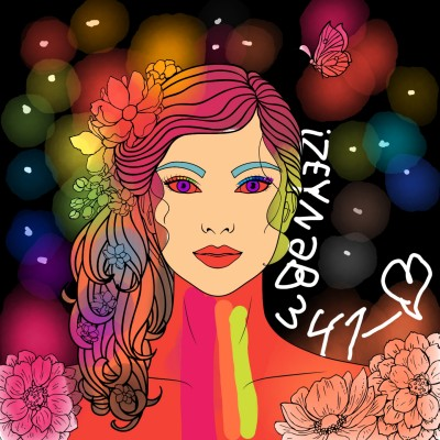 ☆RAINBOW GIRL☆ | Izeyneb341_Love | Digital Drawing | PENUP