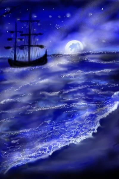 Let's draw  a moon/ moonlighting  | Barbra | Digital Drawing | PENUP