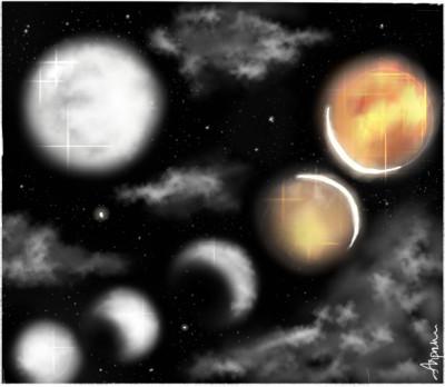Lunar eclipse 'lets draw moon' | arpu | Digital Drawing | PENUP