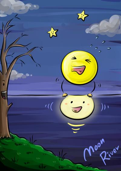 Moon River | feltboy | Digital Drawing | PENUP