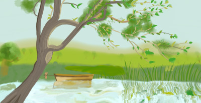 boat at a river side  | haneen | Digital Drawing | PENUP