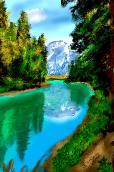 Mountain River | missdarrian | Digital Drawing | PENUP