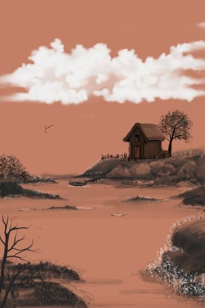 peaceful Riverside  | Dexter | Digital Drawing | PENUP