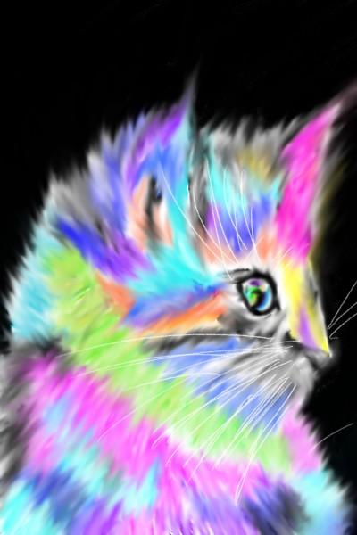 Punk Rock Kitten  | Mark349 | Digital Drawing | PENUP