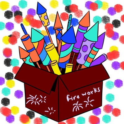 Fire works | A.K.G_INDIA | Digital Drawing | PENUP