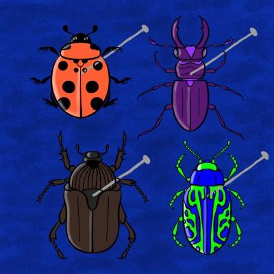 Bugs On Blue Velvet | Bekkie | Digital Drawing | PENUP