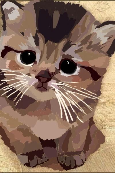 Little brown kitten | Emma | Digital Drawing | PENUP