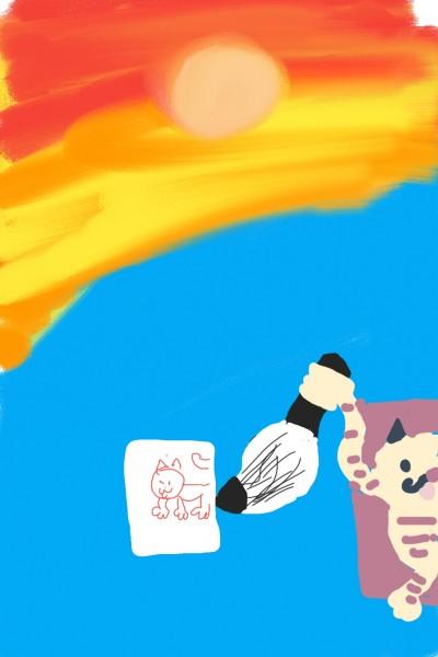그림의  노을과  고양이  | ehd224 | Digital Drawing | PENUP