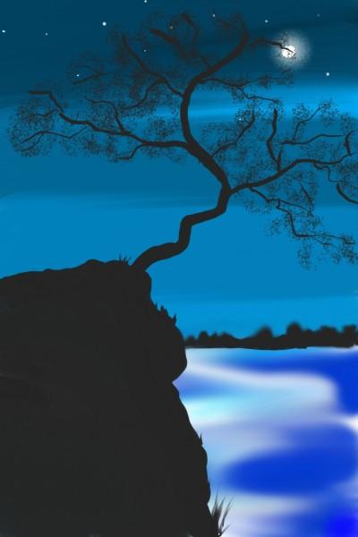 tree in cliff   huebaby   Digital Drawing   PENUP