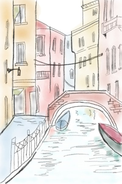 Venice architecture  | Sylvia | Digital Drawing | PENUP