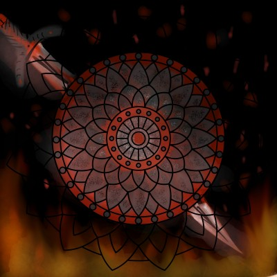 Formed through Fire | Dragon_Halfling | Digital Drawing | PENUP