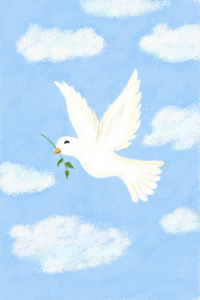 SYMBOL OF PEACE- DOVE  | Sylvia | Digital Drawing | PENUP