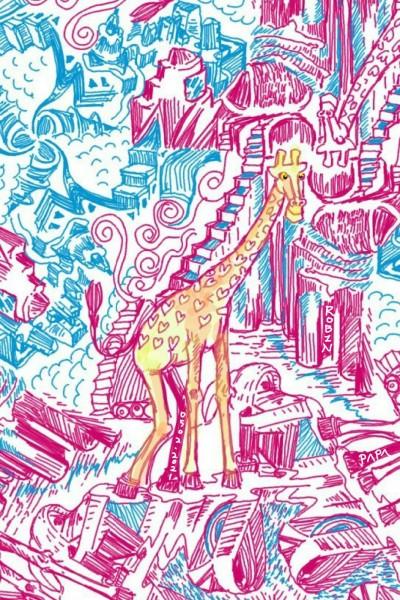 Giraffe Wonderland . | RobinPAPA | Digital Drawing | PENUP
