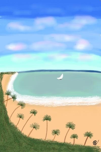 Praia! Beach! | Raycamlo | Digital Drawing | PENUP