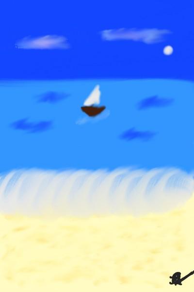 Beach | Raycamlo | Digital Drawing | PENUP