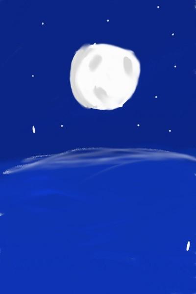 lua ao mar | Marianedesenha | Digital Drawing | PENUP