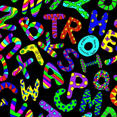 very bright alphabet   qwerty   Digital Drawing   PENUP