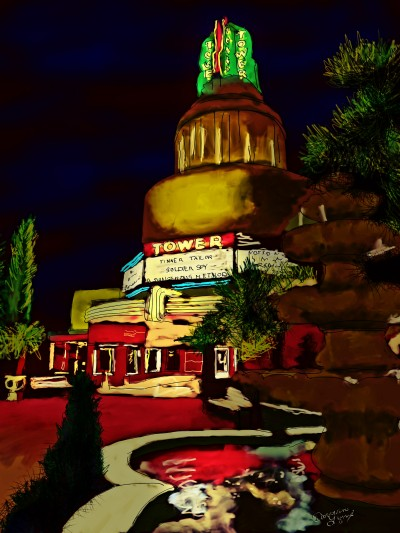 Tower Movie Theater, Sacramento, CA | missdarrian | Digital Drawing | PENUP
