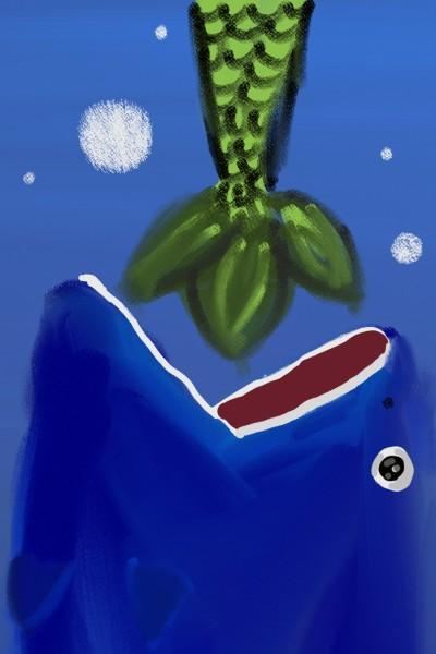 кит и русалка   LizaGolicina   Digital Drawing   PENUP