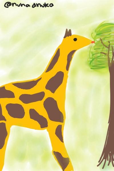 giraffe cute   nuhadhuka   Digital Drawing   PENUP