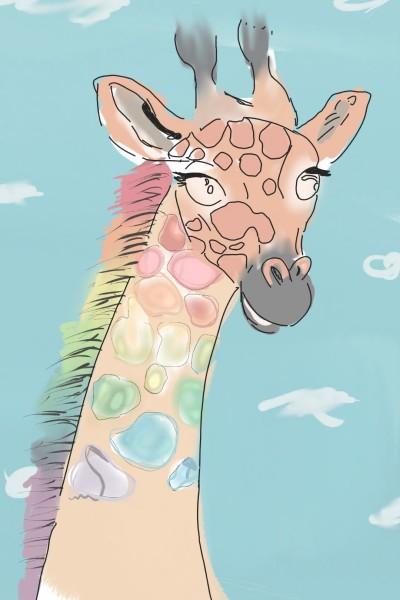 Rainbow Giraffe  | ProtoStar | Digital Drawing | PENUP
