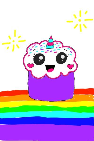 Unicorn cupcake from toto | Natasha | Digital Drawing | PENUP