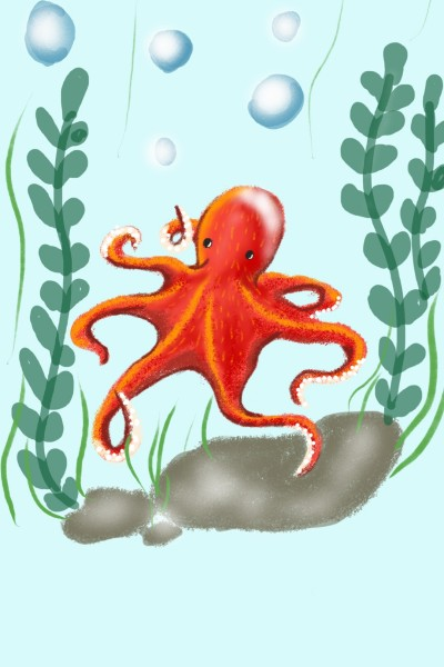 Cute Octopus drawing  | Sylvia | Digital Drawing | PENUP