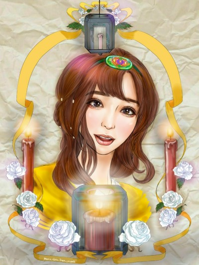 촛불과 소녀   Iness_j.y_park   Digital Drawing   PENUP