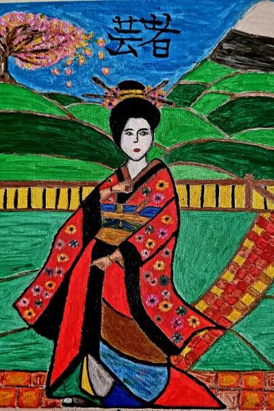 """Geisha"" | Nessarocks09 | Digital Drawing | PENUP"