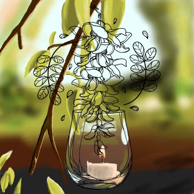 candle in the nature | J-O-C | Digital Drawing | PENUP