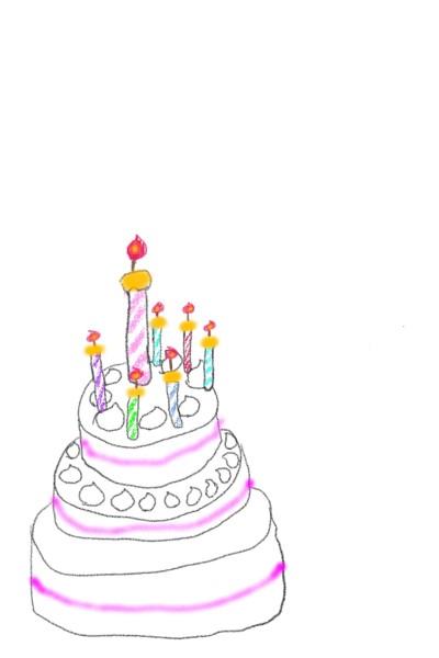 생일캐익의 촛불   Bunny   Digital Drawing   PENUP