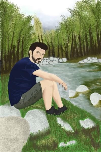 boy at the river | mattomensaka | Digital Drawing | PENUP