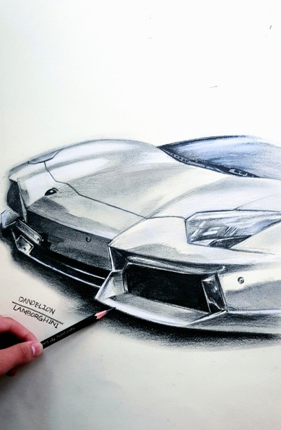 LAMBORGHINI (AVENTADOR  LP700-4) | -DANDELION- | Digital Drawing | PENUP