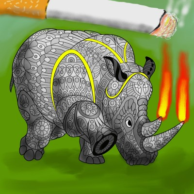rhinocero lights sigarette | J-O-C | Digital Drawing | PENUP