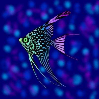 glow fish | Keana_V | Digital Drawing | PENUP