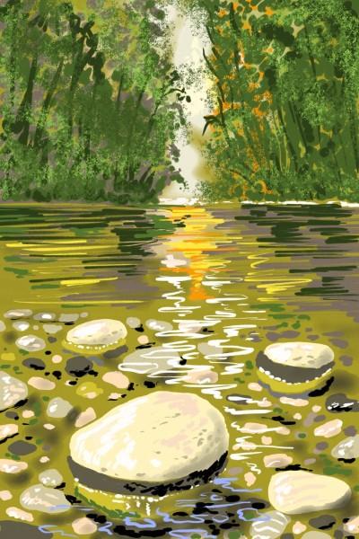 Orinoco river, Venezuela   AntoineKhanji   Digital Drawing   PENUP