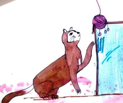 #cat scratching the mirror | shreya | Digital Drawing | PENUP