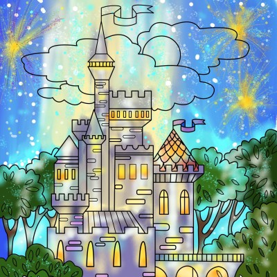 Celebration time at the Castle!! | Sylvia | Digital Drawing | PENUP