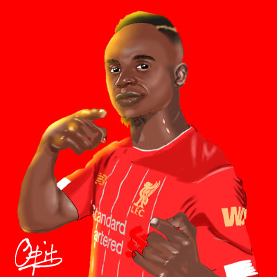 photo study of Sadio Mane @ 6hrs 32min | opit | Digital Drawing | PENUP