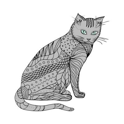 A cat | Sunset_MOON | Digital Drawing | PENUP