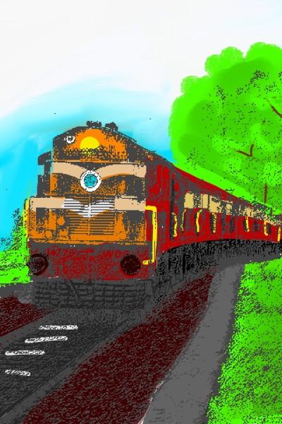 Train in the way   Jai_Shiwani   Digital Drawing   PENUP