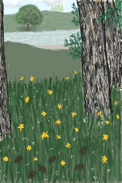 a view through the tree's  | Rhonda | Digital Drawing | PENUP